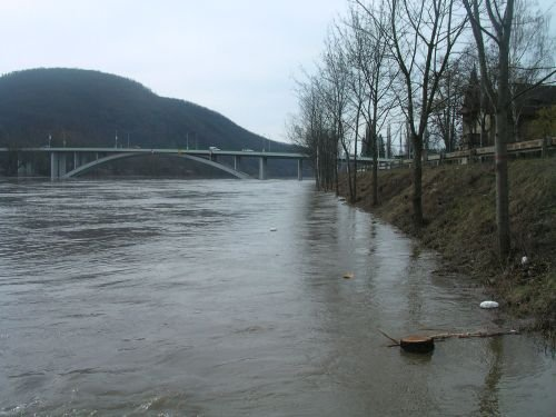 Povodeň na Zbraslavi, březen 2006